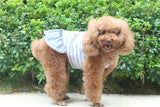 2015 New Cute Stripe Dog Dresses Quality Large Dog Dress