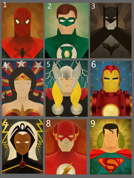 9 Movie Superheros Canvas Painting Modern Home Wall Decor Canvas Art Wall Pictures For Child Bedroom HD Print  Unframed
