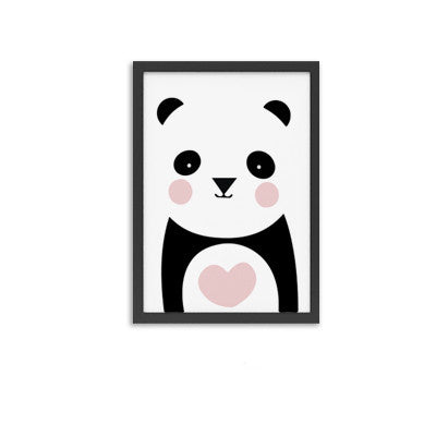 panda cute cactus wall poster wall art Canvas wall painting Canvas Art Print Wall Pictures Home Decoration Frame not include v86