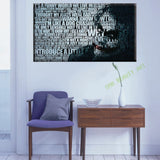 Large modern joker movie poster oil painting on canvas home decoration wall picture for living room canvas art Unframed Unframed