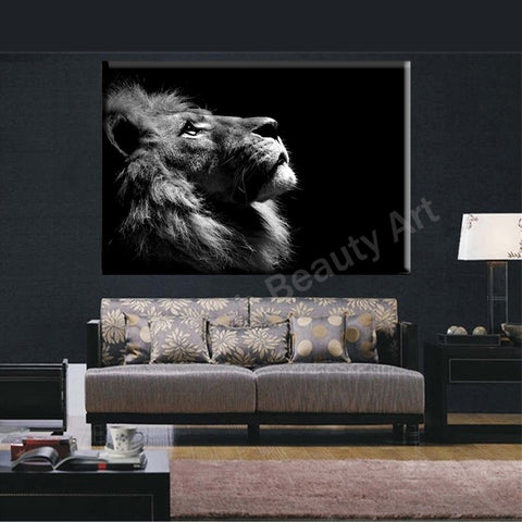 2016 Lion king wall art canvas prints modern art painting wall pictures for living room home decorations animal canvas prints