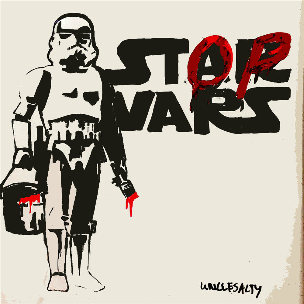 Banksy Morden wall art Star Wars movie poster home decor wall picture for living room artwork print on canvas