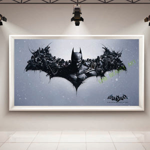Batman movie poster oil painting on canvas home decoration wall picture for living room canvas art HD Print