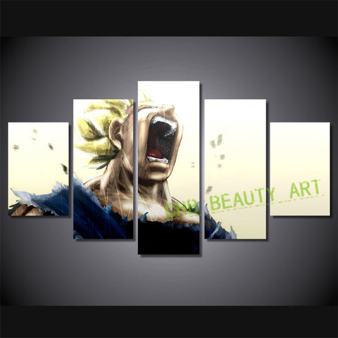 5pcs Printed dragon ball Print room decor print poster wall picture for living room canvas Painting Unframed