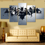 5 Panel Printed Harley Quinn Joker Batman Print Painting On Canvas Room Decoration Print Poster Modular Picture Unframed