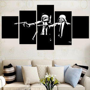 5 Pcs Abstract Canvas Painting Star Wars Canvas Modern Home Room Wall Pictures For Living Room Art HD Print Poster Unframed