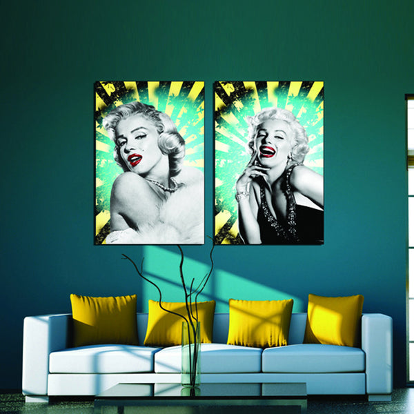 2 sets Marilyn Monroe Modern Home Wall Decor Canvas Picture Art HD Print Painting On Canvas Artworks