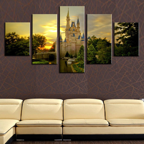 Perfect Wall Poster. (No Frame) 5 Panels Living Room Bedroom Modern Home Decoration  The European Construction Picture Part 23