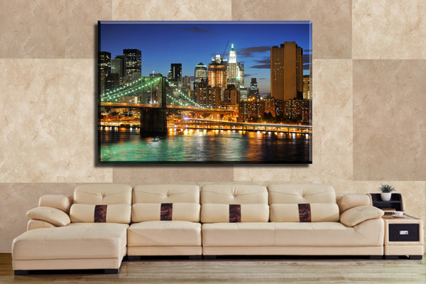 1 Piece Hot Sell Bridge and City  Modern Home decoration Wall Decor painting Canvas Art HD Print Painting  80X120cm