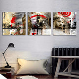 3 Pieces Buddha Modern Home Wall Decor Canvas Art Picture Print Painting On Canvas Artworks