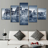 City building beautiful, 5 Pcs (No Frame) Large HD Top-rated Quality Canvas Print Painting for Living Room Wall Art Picture Gift