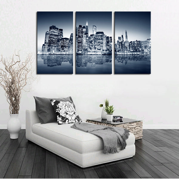 3 Panels Coastal cities print painting Canvas Wall Art Picture Home Decoration Living Room canvas picture wall painting