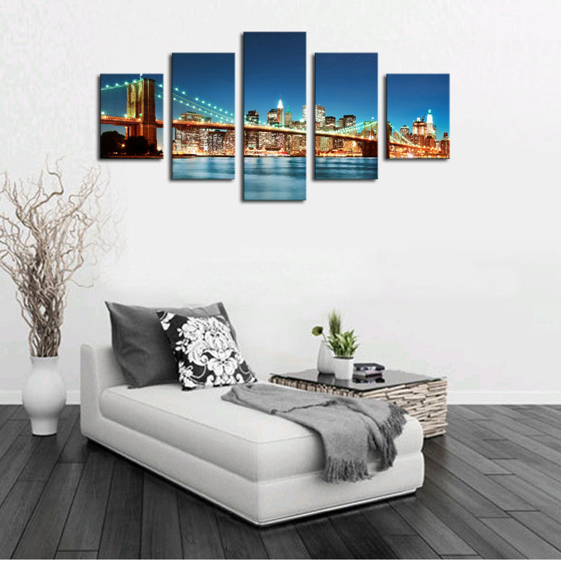 100% High Quality Hot Sell Bridges Picture Modern Wall Decor Print  on Canvas Oil Painting