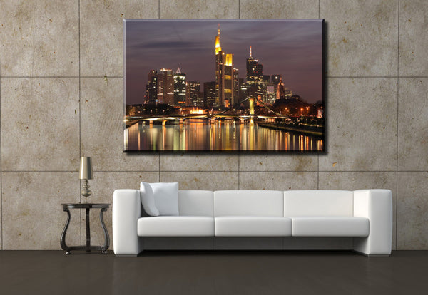 1 Piece HD Canvas Print Painting   Modern Home decoration Wall Decor  Art Hot Sell  Bridge and  city 80X120cm