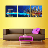 Unframed 3 Piece The City At Night Modern Home Wall Decor Canvas Picture HD Print Painting On Canvas