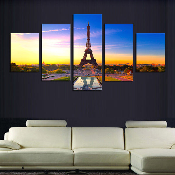 5 Piece(No Frame)  Modern HD Famous Tower Home Wall Decor Canvas Picture Art Print Painting On Canvas Artworks For Home Decor