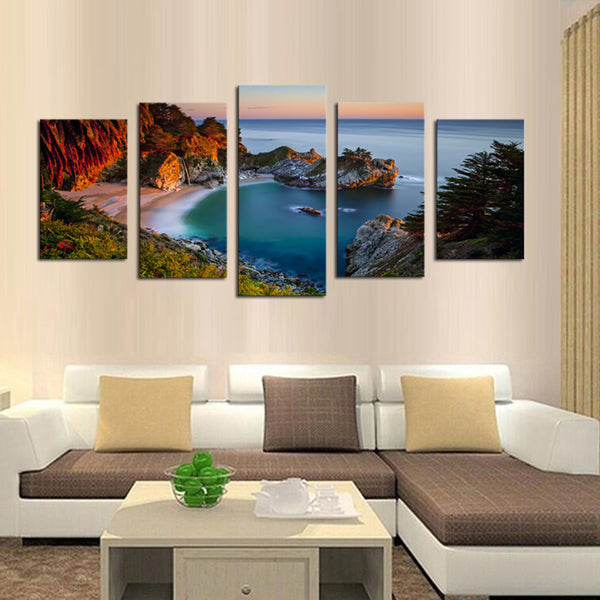 Unframed 5 Piece Beautiful scenery  Modern Home Wall Decor Canvas Picture Art HD Print Painting On Canvas Artworks