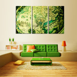 Unframed 3 Panels Blue map Modern Home Wall Decor Canvas Picture Art HD Print Painting On Canvas for living room gift