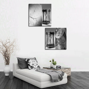 Unframed 2 sets Abstract Sand Clock Modern Canvas Wall Art Home Wall Decor HD Picture Print Painting On Canvas Artworks