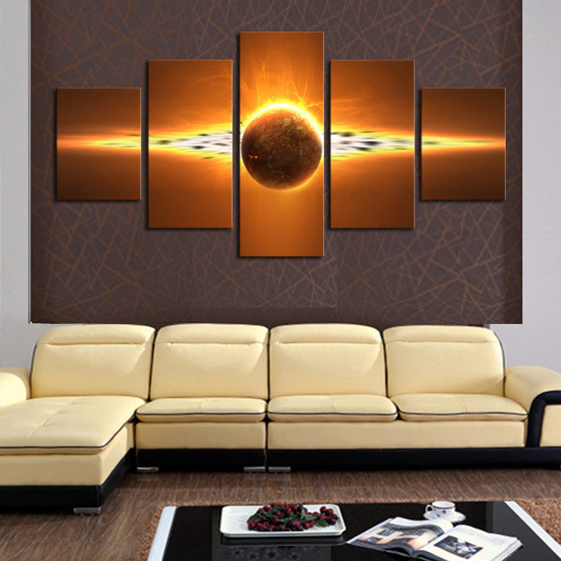 5 Piece(No Frame) Hot Sell Sunrise Modern Home Wall Decor Canvas picture Art HD Print  Painting Set of 5 Each Canvas arts