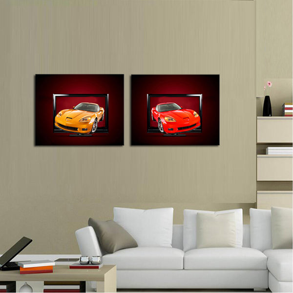 2 sets Modern Home  Cars Wall Decor Canvas Picture Art HD Print Painting On Canvas Artworks