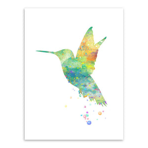 Original Watercolor Bird Animals Poster Prints Abstract Pictures Hipster Home Wall Art Decoration Canvas Painting No Frame Gifts