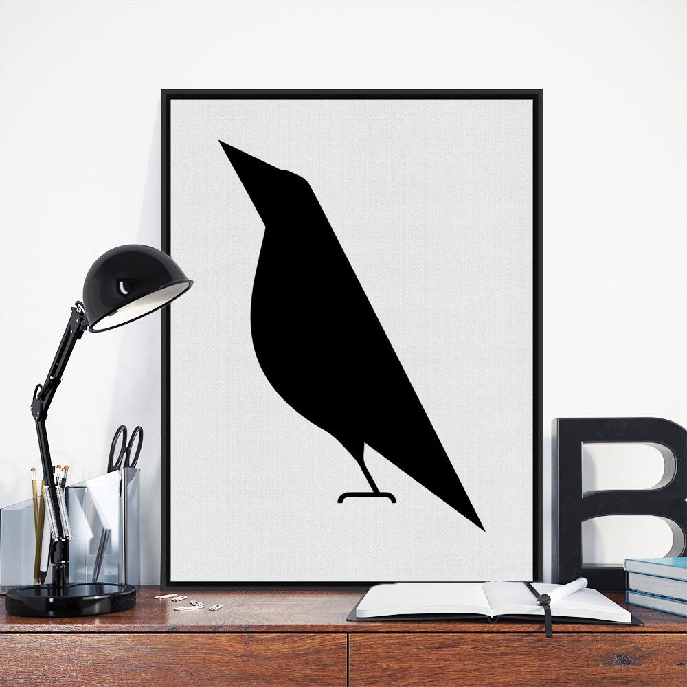 Modern Minimalist Black White Abstract Bird A4 Big Poster Print Animal Hipster Canvas Painting No Frame Home Wall Art Decor Gift