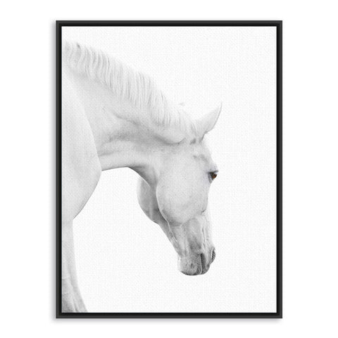 Triptych modern minimalist black white horse animal head photo art print wall picture canvas painting home