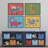 play-on-the-back Star Quotes Art Print Poster Wall Picture Nursery Canvas Painting No Frame Baby Room Decoration