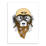 Vintage Retro Hippie Animal Head Giraffe Owl Helmet Art Print Poster Wall Pictures Canvas Painting No Framed Home Boy Room Decor
