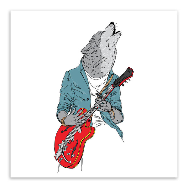 Vintage Retro Fashion Rock Animal Head Horse Wolf A4 Big Art Print Poster Home Wall Picture Canvas Painting Bar Decor No Frame