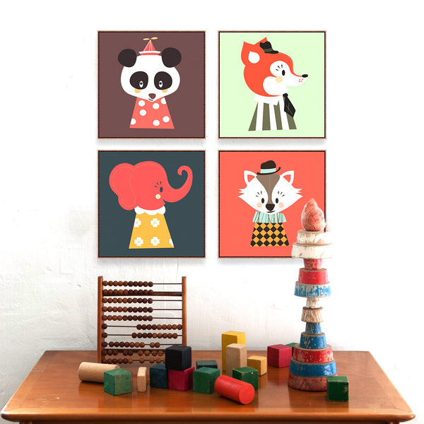 Animals Kids Art Prints Poster Living Room  Wall Picture Canvas Painting No Frame Home Decor