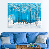 Nordic Modern Forest Animals Deer Birds Canvas Large A4 Art Print Poster Wall Picture Living Room Home Decor Painting No Frame