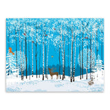 Nordic Modern Snow Forest Animals Deer Birds Canvas Large A4 Art Print Poster Wall Picture Living Room Decor Painting No Frame