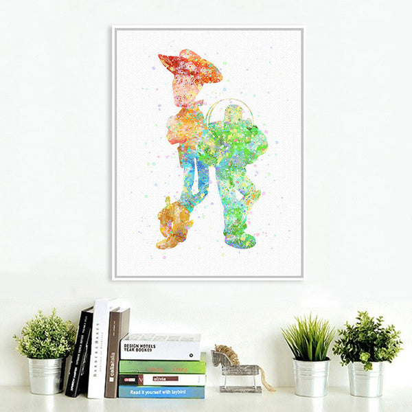 Original Watercolor Toy Story Friendship Pop Movie A4 Art Print Poster Cartoon Wall Picture Canvas Painting Kids Room Home Decor