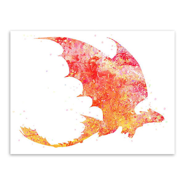 Original Watercolor Train Dragon Pop Movie A4 Art Print Poster Cartoon Wall Picture Canvas Painting No Frame Kids Room Home Deco