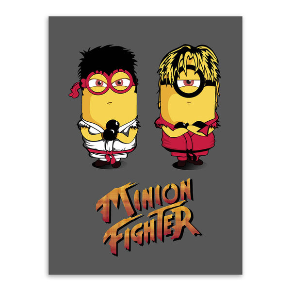 Anime Game Street Fighter Minion Black Pop Movie A3 Poster Print Kawaii Cartoon Film Big Canvas Painting Kids Room Wall Art Gift