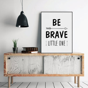 Modern Nordic Minimalist Motivational Typography Quote Art Print Poster Nursery Wall Picture Canvas Painting Boy Kids Room Decor