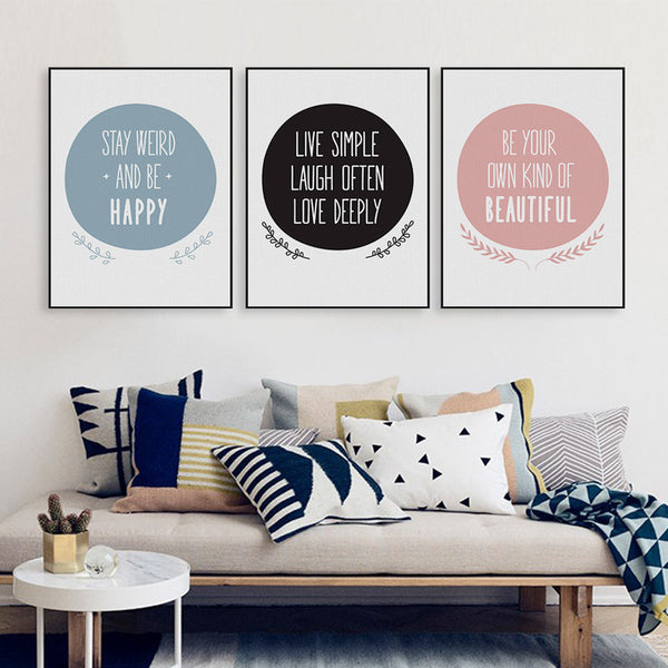 Modern Nordic Minimalist Beautiful Love Typography Quotes Art Print Poster Wall Picture Canvas Painting No Frame Kids Room Decor