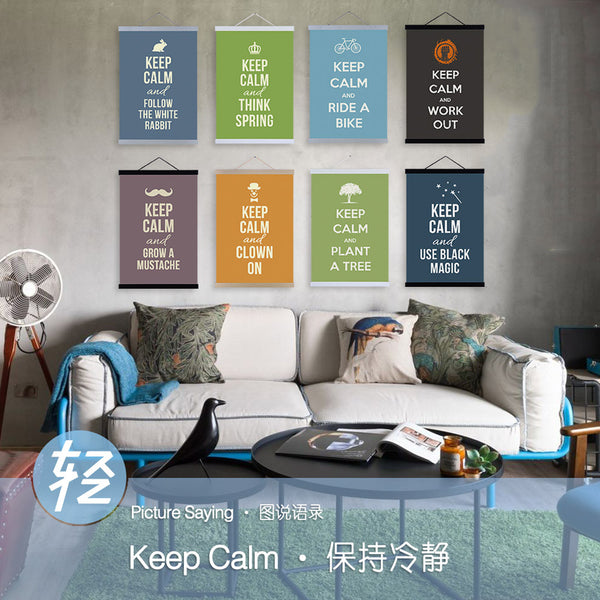 Modern Minimalist Motivational Typography Keep Calm Quotes A4 Art Prints Poster Wall Picture Canvas Painting No Frame Home Decor