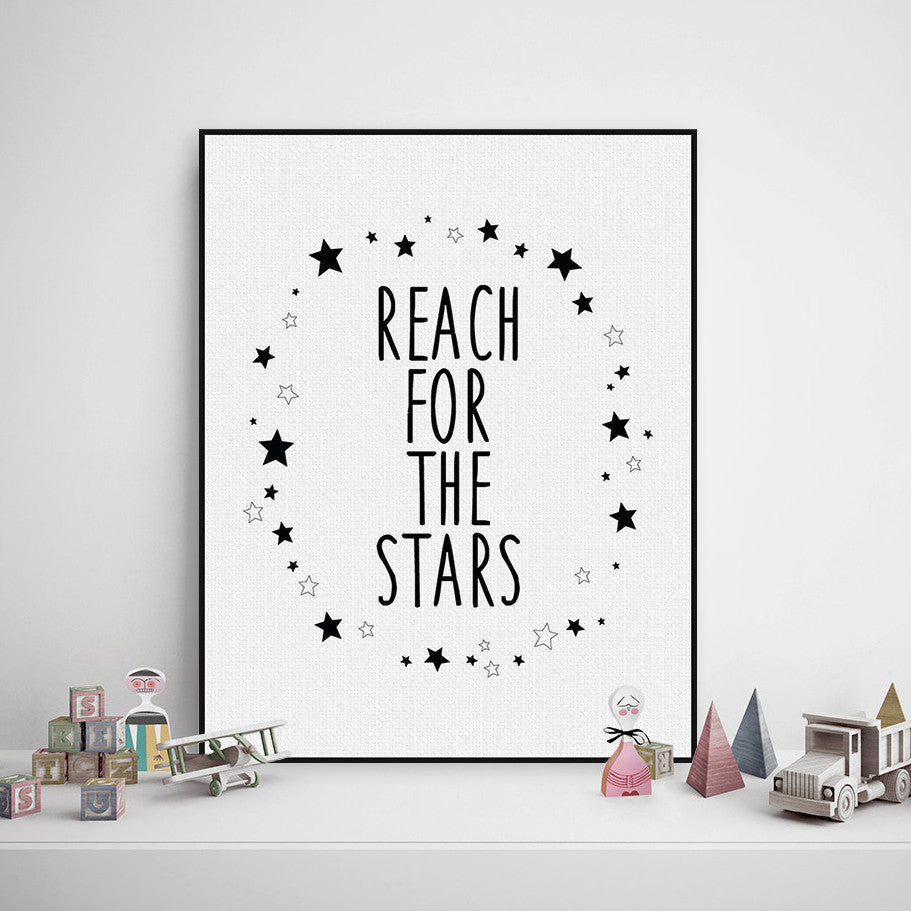 Modern Nordic Minimalist Motivational Typography Quote A4 Art Print Poster Star Wall Picture Canvas Painting Boy Kids Room Decor