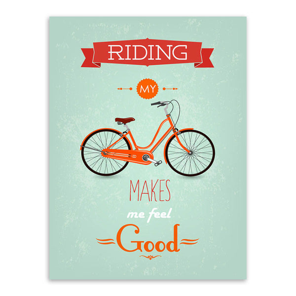 Modern Inspirational Bike Bicycle Quotes Typography Poster Print A4 Vintage Canvas Painting Bedroom Pop Wall Art Home Decor Gift