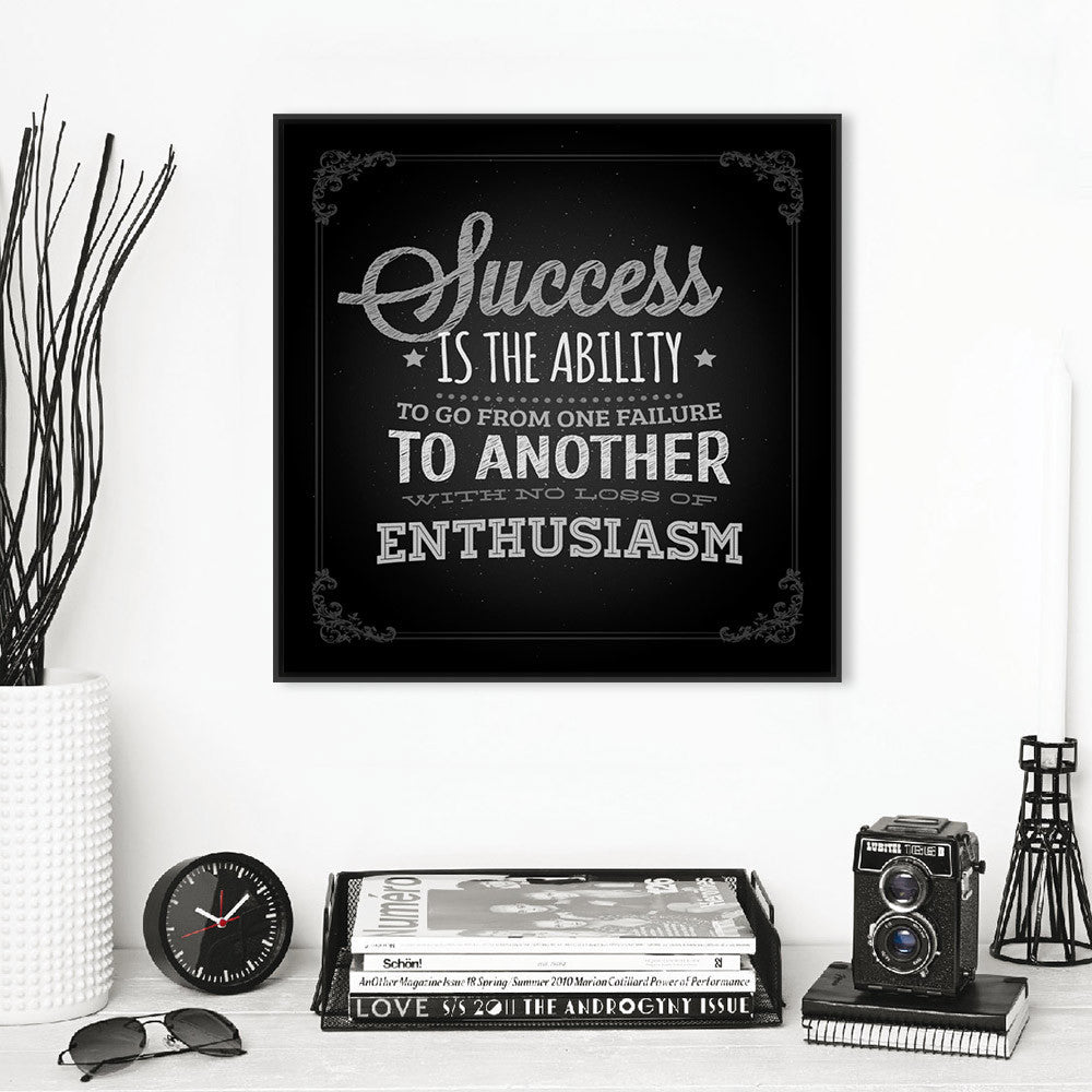 Vintage Retro Black White Motivational Typography Success Quotes A4 Huge Art Print Poster Wall Picture Canvas Painting Home Deco