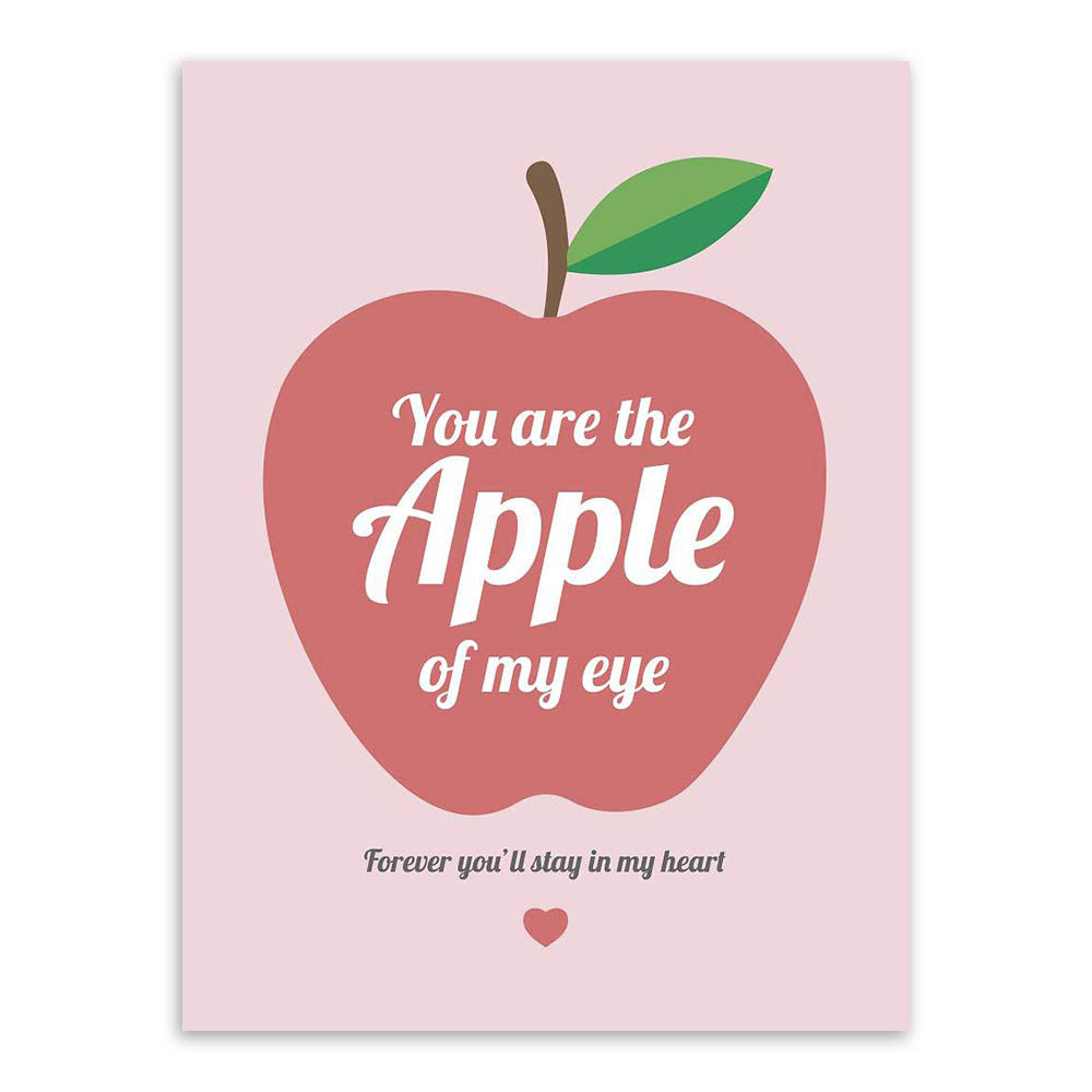 Modern Minimalist Sunshine Apple Love Typography Quotes Art Print Poster Wall Picture Canvas Painting Gift For Friend Home Decor
