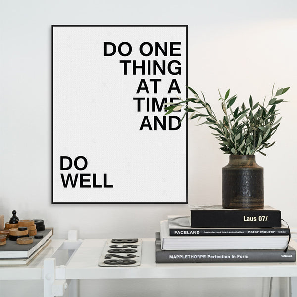 Modern Black White Minimalist Motivational Typography Quote Art Print Poster Wall Picture Canvas Painting Living Room Decoration
