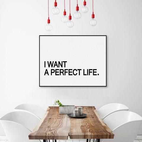 Minimalist Motivational Typography Perfect Life Quotes A4 Art Print Poster Living Room Wall Picture Canvas Painting Home Decor