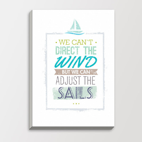 Minimalist Motivational Typography Sail Life Quotes A4 Art Print Poster Nautical Wall Picture Canvas Painting No Frame Home Deco