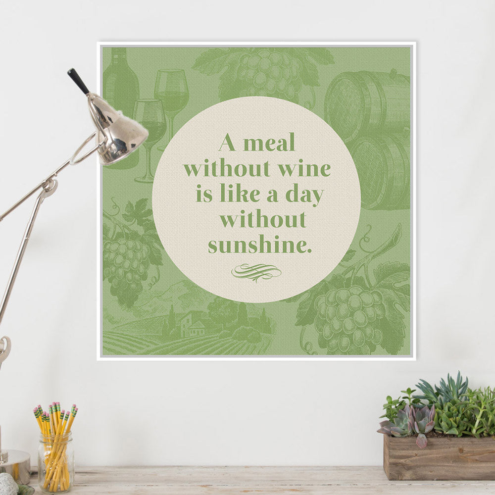 Modern Green Wine Vine Quotes Typography Poster Prints Hipster