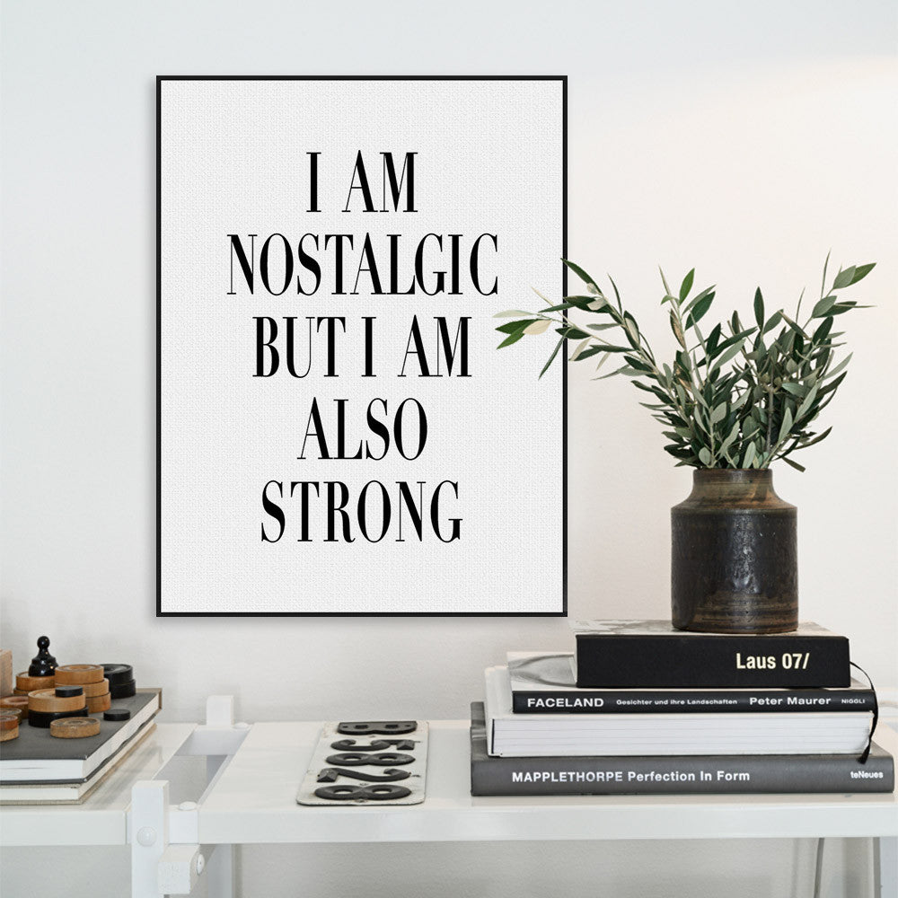 Modern Black White Nordic Motivational Typography Strong Quotes ...