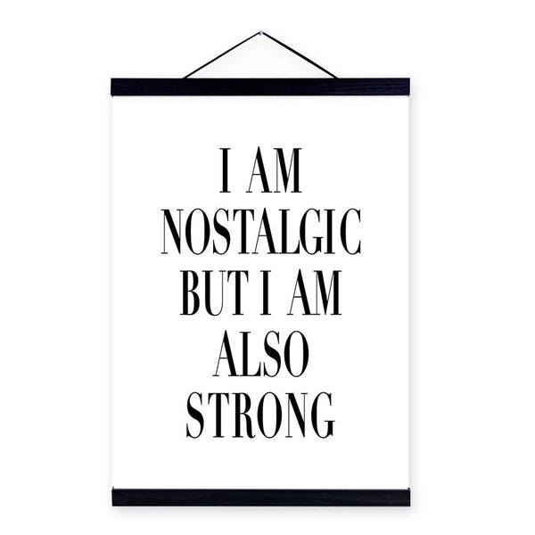 Modern Black White Nordic Motivational Typography Strong Quotes Poster Print Wall Art Living Room Decor Canvas Painting No Frame